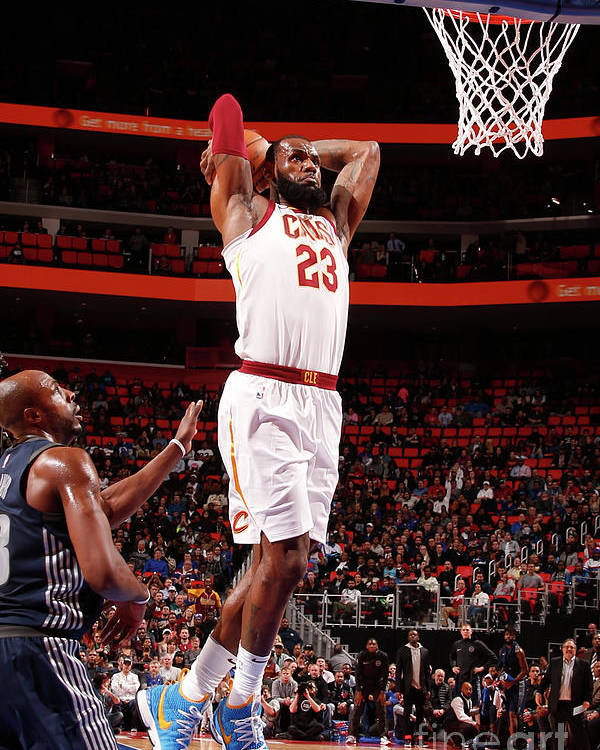 Nba Pro Basketball Poster featuring the photograph Lebron James by Brian Sevald