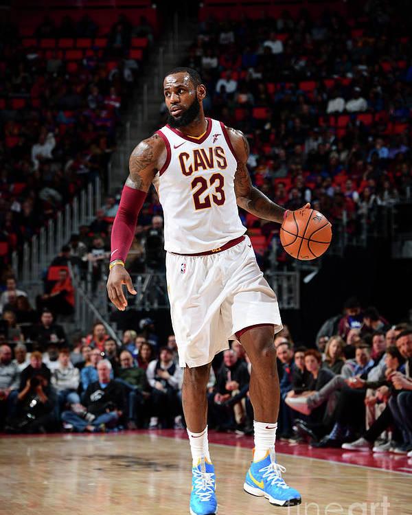 Nba Pro Basketball Poster featuring the photograph Lebron James by Chris Schwegler