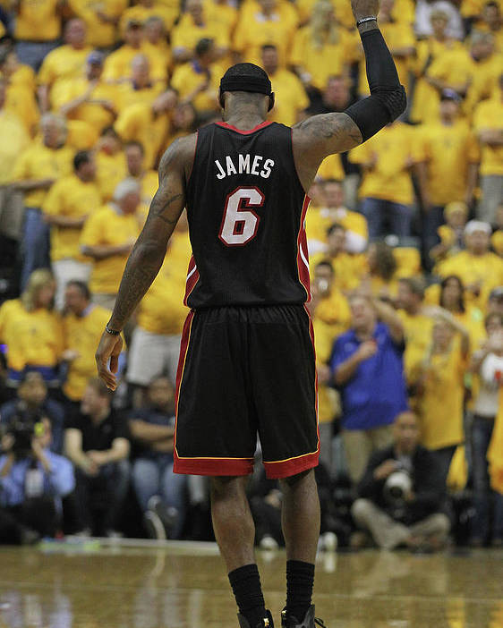 Playoffs Poster featuring the photograph Lebron James by Jonathan Daniel
