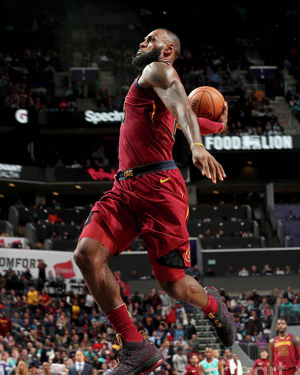 Nba Pro Basketball Poster featuring the photograph Lebron James by Kent Smith