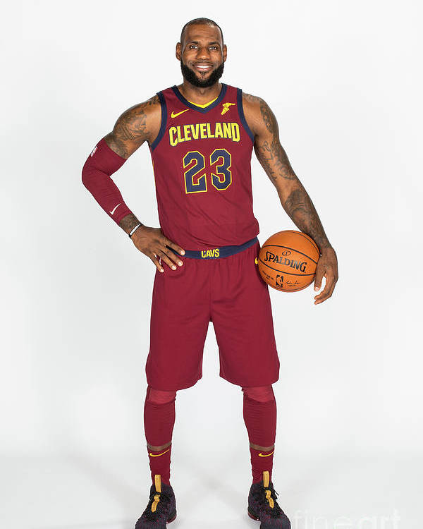 Media Day Poster featuring the photograph Lebron James by Michael J. Lebrecht Ii