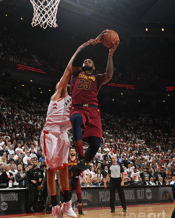 Playoffs Poster featuring the photograph Lebron James by Ron Turenne