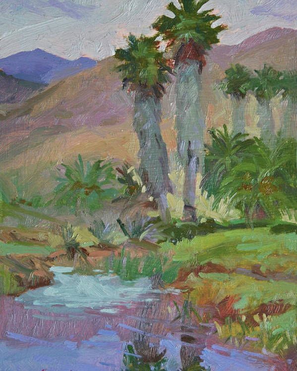 Catalina Island Poster featuring the painting Little Harbor Water Hole by Betty Jean Billups