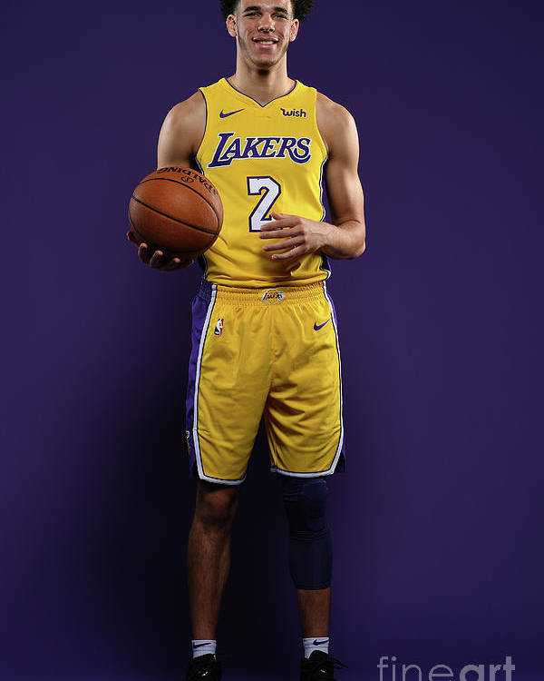 Media Day Poster featuring the photograph Lonzo Ball by Aaron Poole