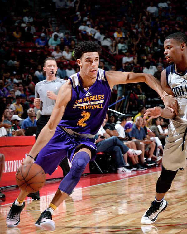 Nba Pro Basketball Poster featuring the photograph Lonzo Ball by David Dow