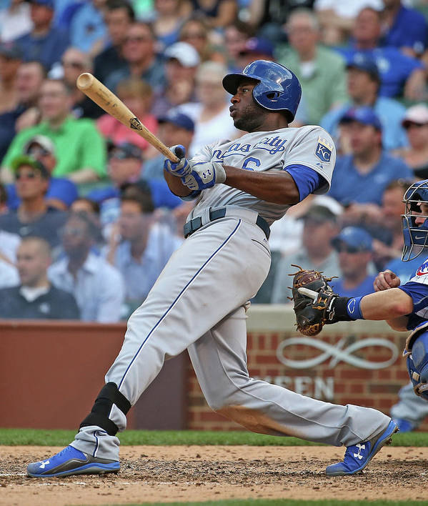 People Poster featuring the photograph Lorenzo Cain by Jonathan Daniel