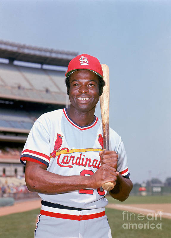 St. Louis Cardinals Poster featuring the photograph Lou Brock by Lou Requena