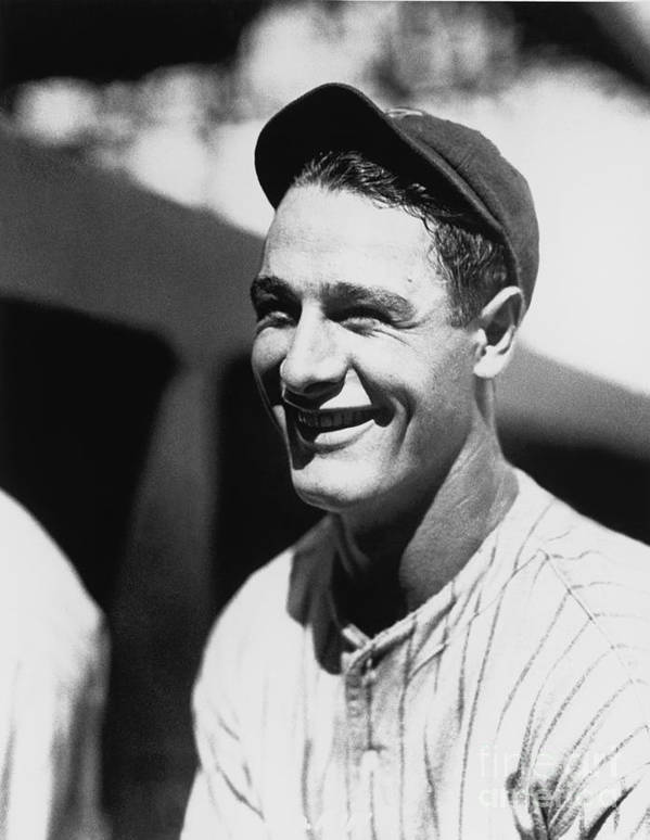 People Poster featuring the photograph Lou Gehrig by National Baseball Hall Of Fame Library