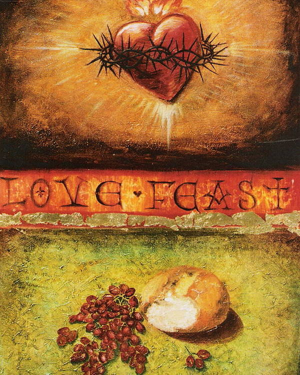 Love Feast Poster featuring the painting Love Feast by Teresa Carter