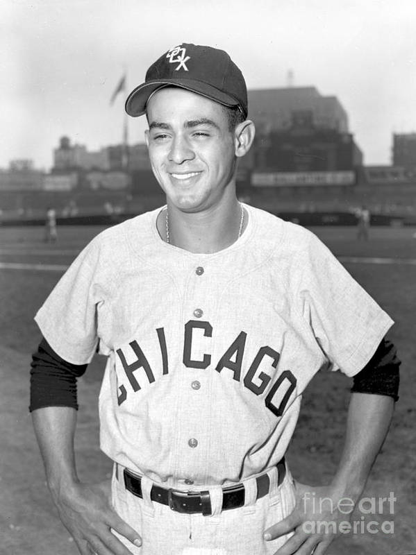 American League Baseball Poster featuring the photograph Luis Aparicio by Kidwiler Collection
