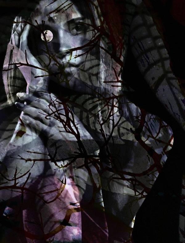 Woman Poster featuring the digital art Luna by Gunilla Munro Gyllenspetz