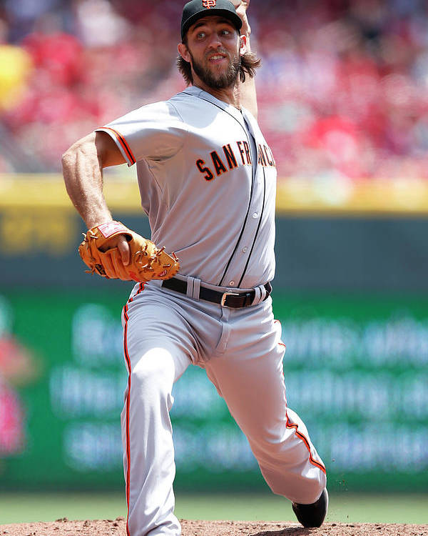 Great American Ball Park Poster featuring the photograph Madison Bumgarner by Joe Robbins