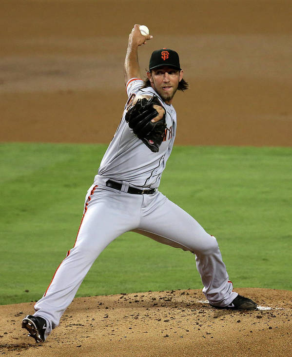 California Poster featuring the photograph Madison Bumgarner by Stephen Dunn