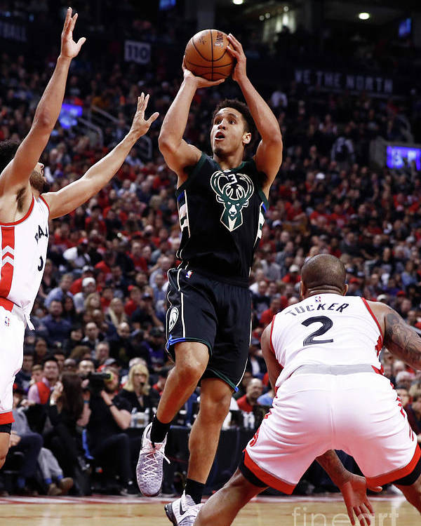 Playoffs Poster featuring the photograph Malcolm Brogdon by Mark Blinch