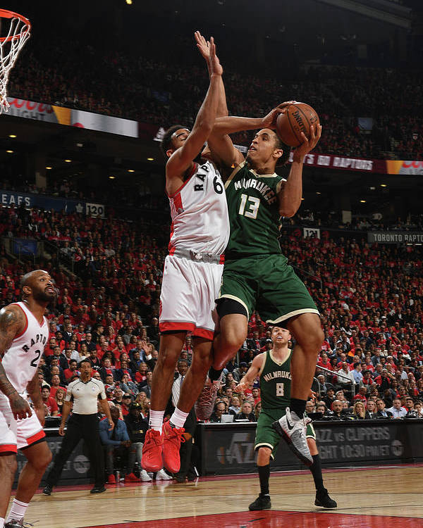Playoffs Poster featuring the photograph Malcolm Brogdon by Ron Turenne