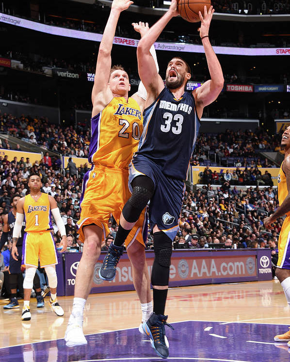 Nba Pro Basketball Poster featuring the photograph Marc Gasol by Andrew D. Bernstein
