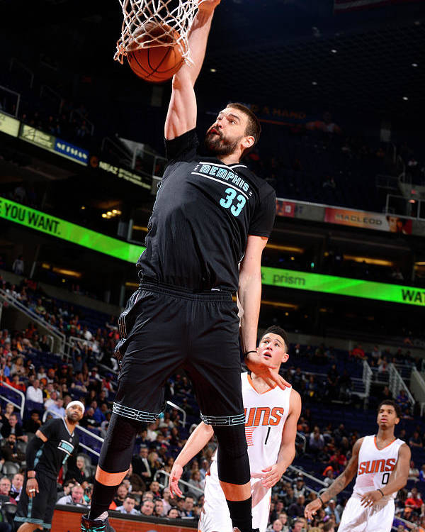 Nba Pro Basketball Poster featuring the photograph Marc Gasol by Barry Gossage