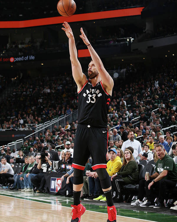 Game Two Poster featuring the photograph Marc Gasol by Gary Dineen