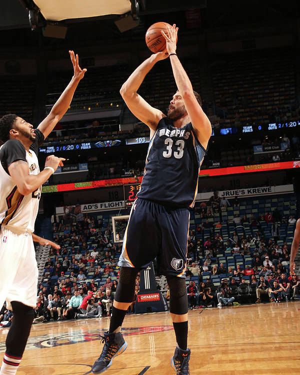 Smoothie King Center Poster featuring the photograph Marc Gasol by Layne Murdoch
