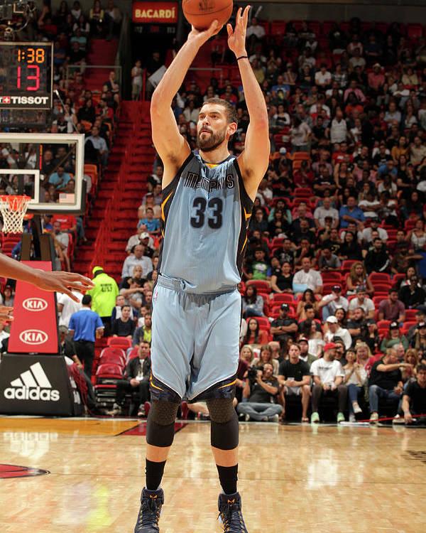 Nba Pro Basketball Poster featuring the photograph Marc Gasol by Oscar Baldizon