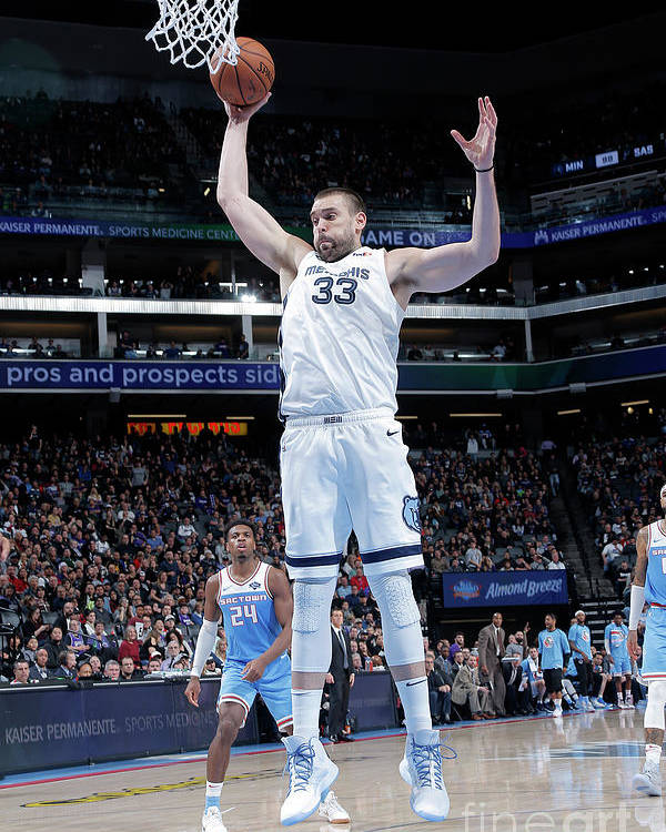 Nba Pro Basketball Poster featuring the photograph Marc Gasol by Rocky Widner