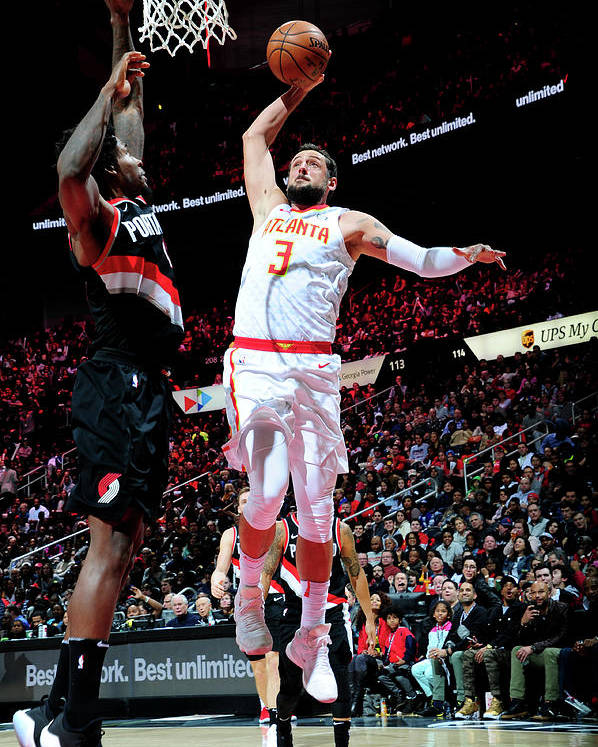 Atlanta Poster featuring the photograph Marco Belinelli by Scott Cunningham