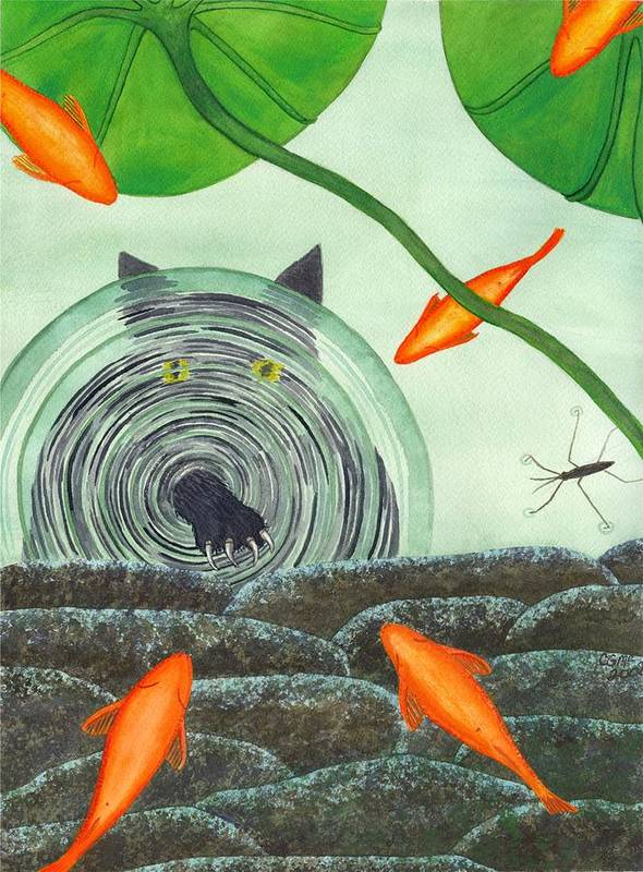 Goldfish Poster featuring the painting Marco Polo by Catherine G McElroy