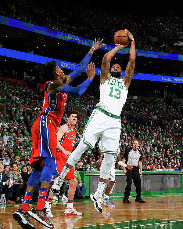 Playoffs Poster featuring the photograph Marcus Morris by Brian Babineau
