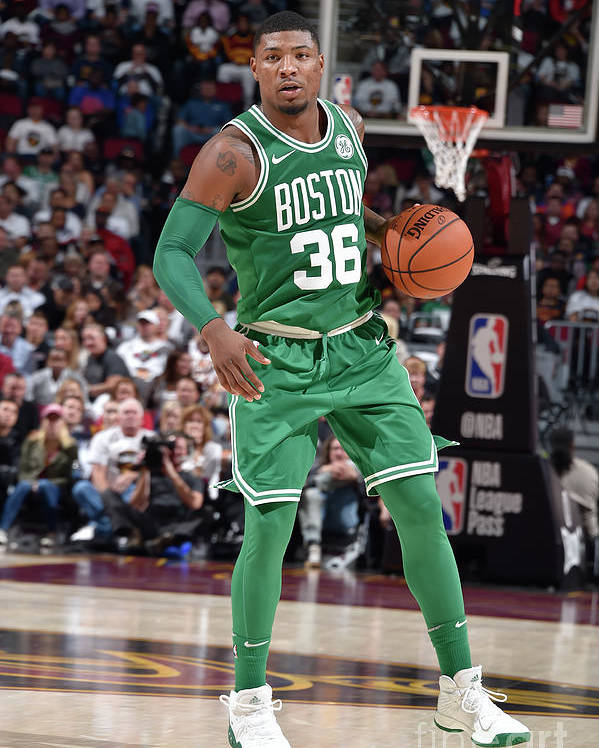 Nba Pro Basketball Poster featuring the photograph Marcus Smart by David Liam Kyle
