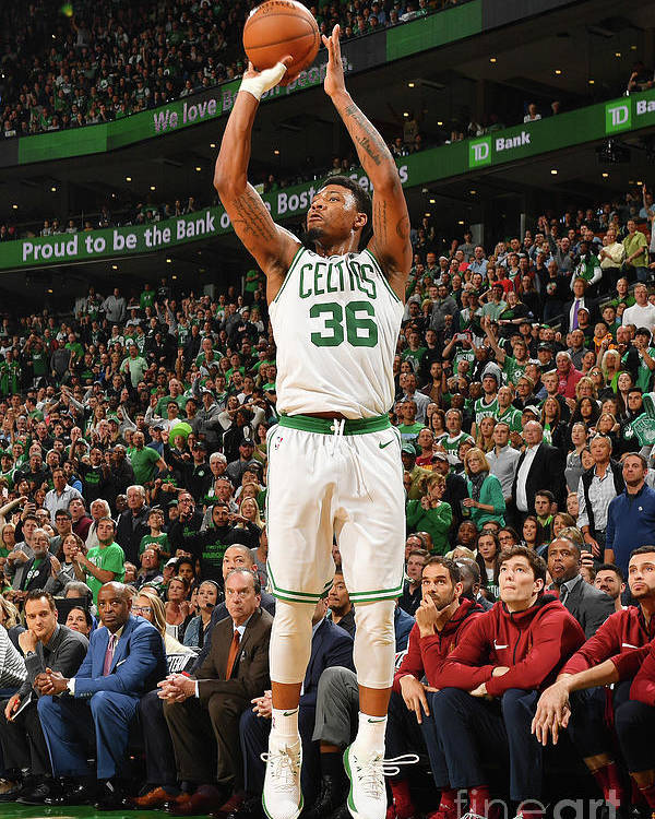 Playoffs Poster featuring the photograph Marcus Smart by Jesse D. Garrabrant