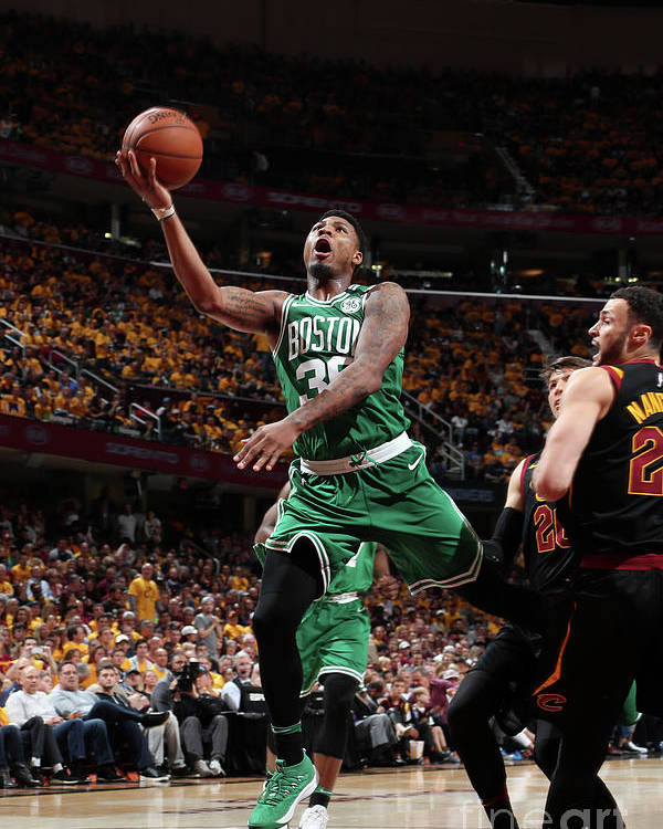 Playoffs Poster featuring the photograph Marcus Smart by Nathaniel S. Butler
