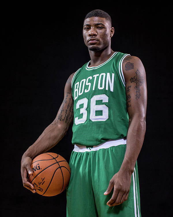 Nba Pro Basketball Poster featuring the photograph Marcus Smart by Nick Laham