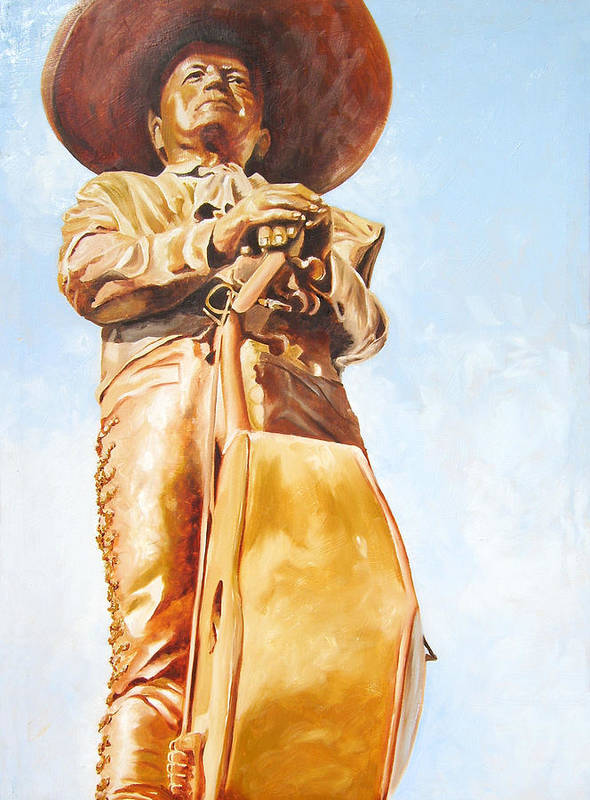 Mariachi Poster featuring the painting Mariachi by Laura Pierre-Louis