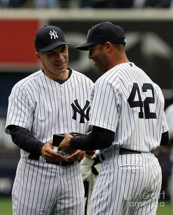 People Poster featuring the photograph Mariano Rivera and Joe Girardi by Chris Trotman
