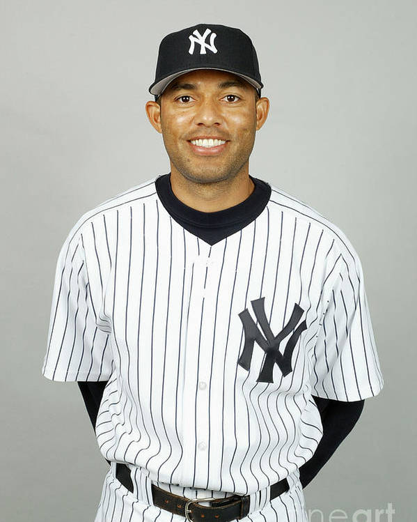Media Day Poster featuring the photograph Mariano Rivera by Mlb Photos