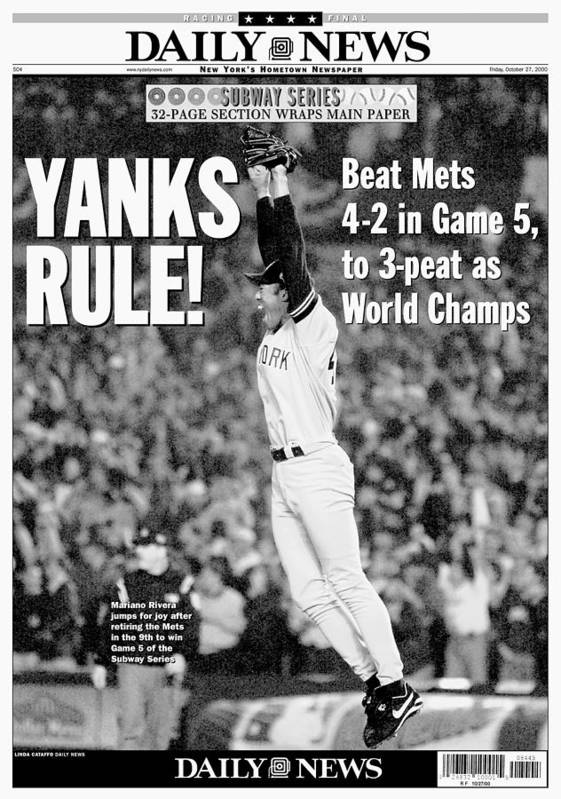 American League Baseball Poster featuring the photograph Mariano Rivera by New York Daily News Archive