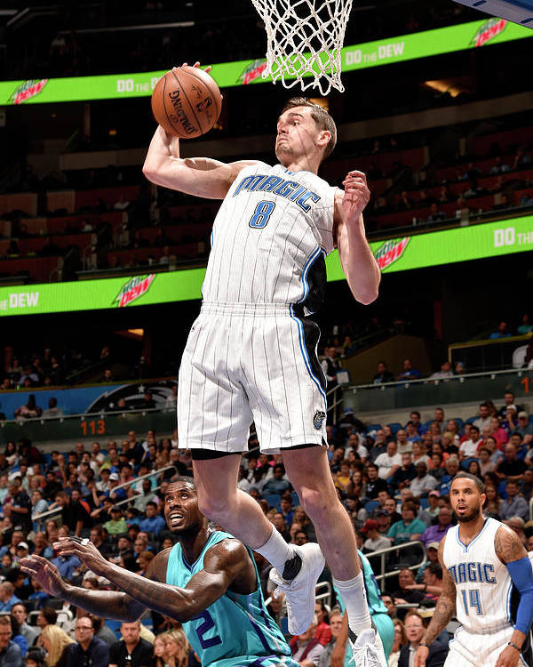 Nba Pro Basketball Poster featuring the photograph Mario Hezonja by Gary Bassing