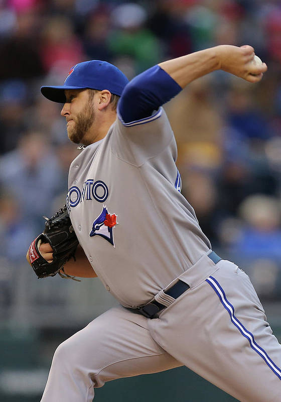 American League Baseball Poster featuring the photograph Mark Buehrle by Ed Zurga