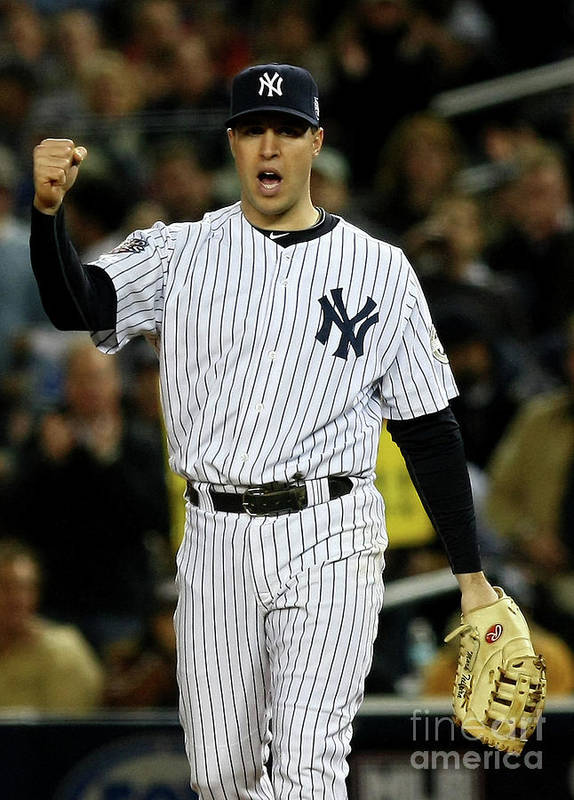 Game Two Poster featuring the photograph Mark Teixeira by Chris Mcgrath