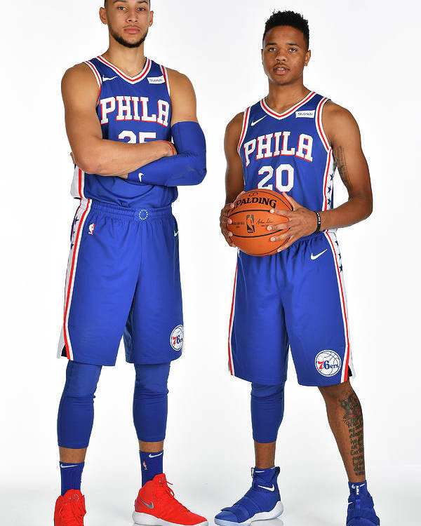 Media Day Poster featuring the photograph Markelle Fultz and Ben Simmons by Jesse D. Garrabrant