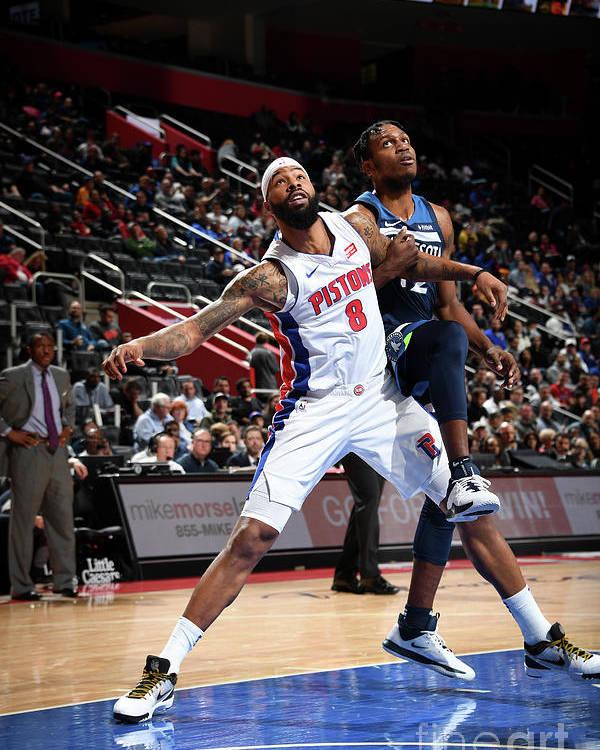 Nba Pro Basketball Poster featuring the photograph Markieff Morris by Chris Schwegler