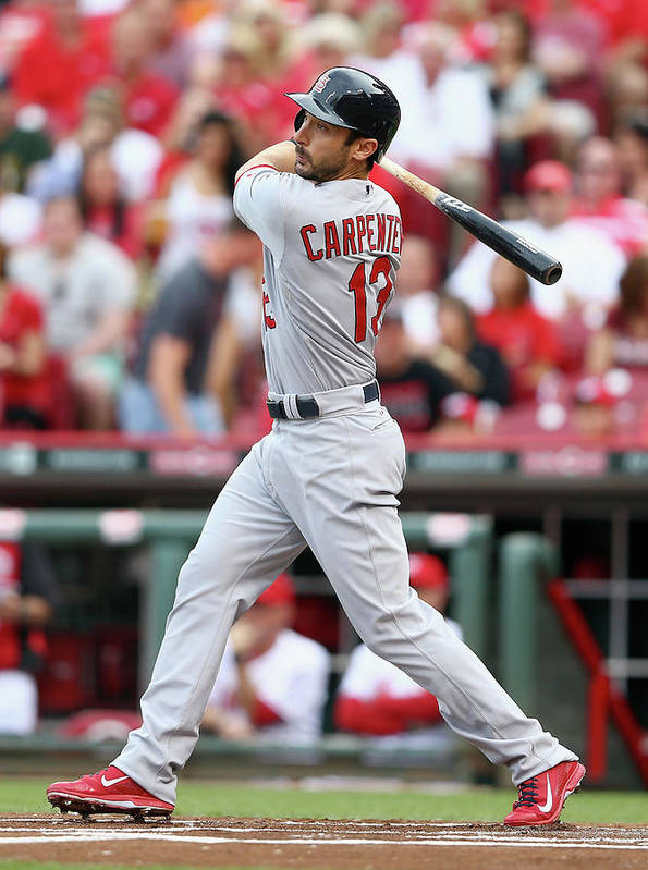 Great American Ball Park Poster featuring the photograph Matt Carpenter by Andy Lyons