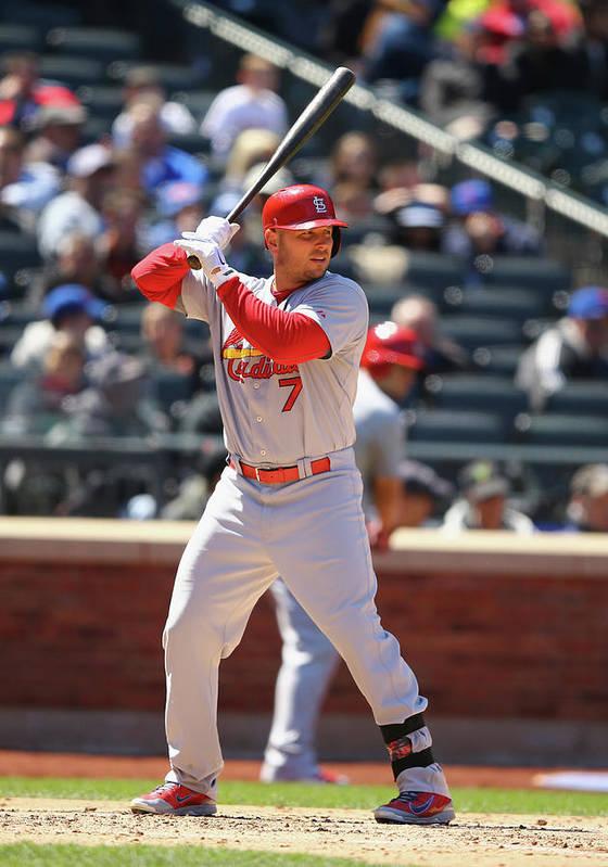 St. Louis Cardinals Poster featuring the photograph Matt Holliday by Al Bello