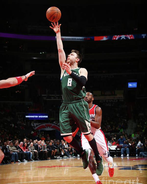 Nba Pro Basketball Poster featuring the photograph Matthew Dellavedova by Ned Dishman