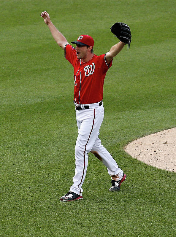 People Poster featuring the photograph Max Scherzer by Rob Carr