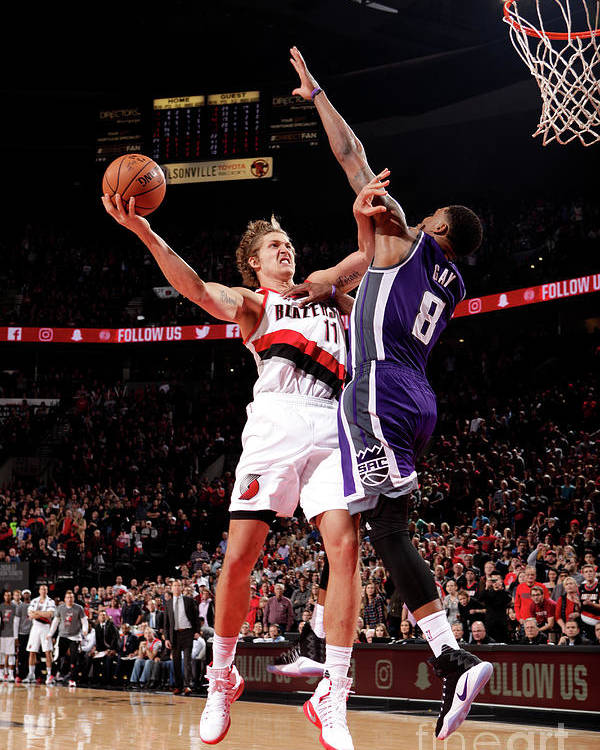 Meyers Leonard Poster featuring the photograph Meyers Leonard by Cameron Browne