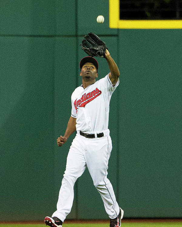 Michael Bourn Poster featuring the photograph Michael Bourn and Xander Bogaerts by Jason Miller