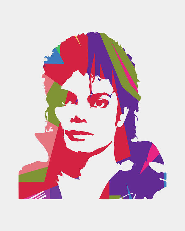 Michael Jackson Poster featuring the digital art Michael Jackson 2 POP ART by Ahmad Nusyirwan