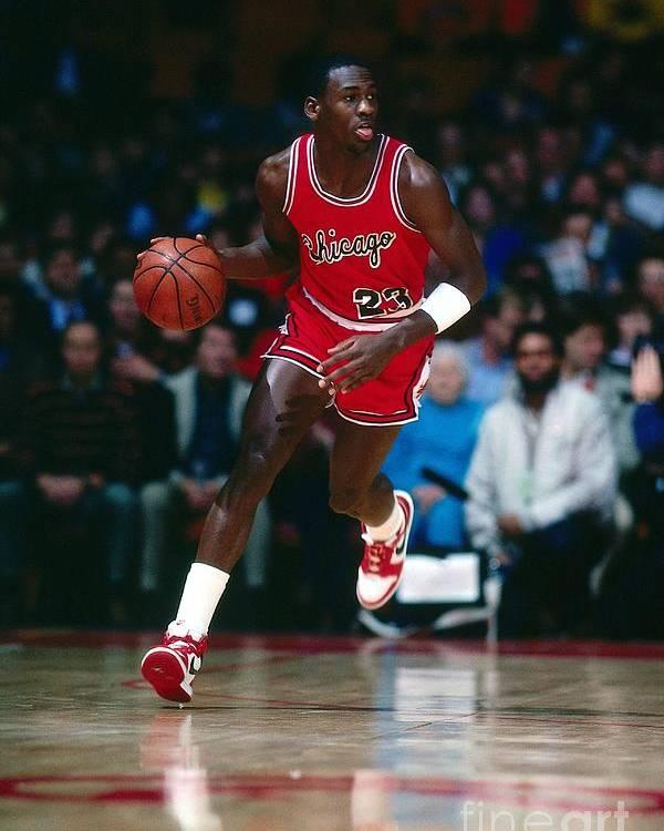 Chicago Bulls Poster featuring the photograph Michael Jordan by Scott Cunningham