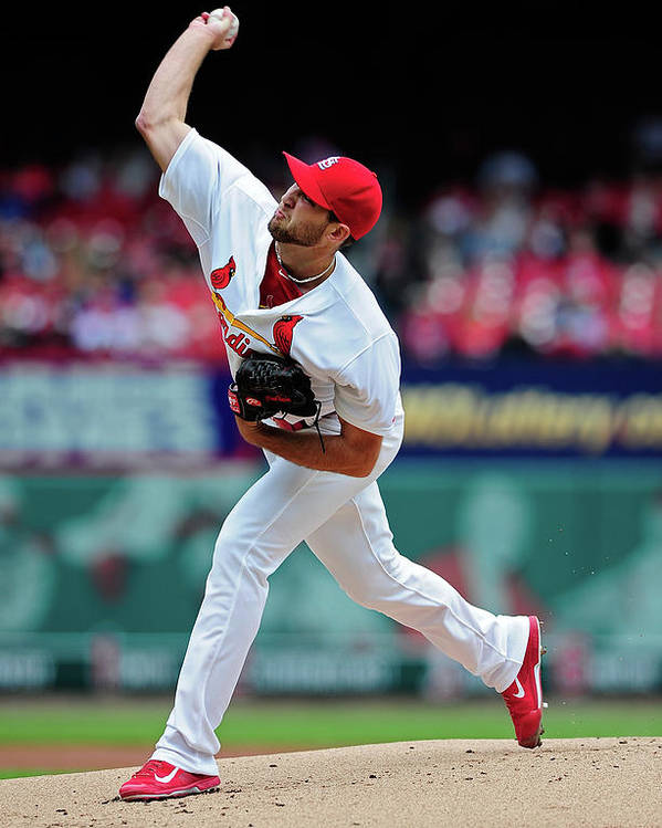 St. Louis Cardinals Poster featuring the photograph Michael Wacha by Jeff Curry